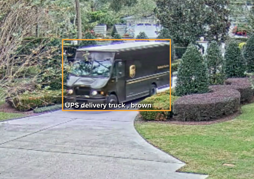 UPS delivery truck recognized from front angle